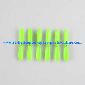 JJRC H20C H20W quadcopter spare parts main blades 6pcs (Green)