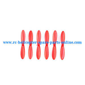 JJRC H20C H20W quadcopter spare parts main blades 6pcs (Red)