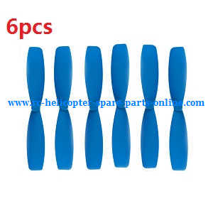 JJRC H21 quadcopter spare parts main blades 6pcs (Blue)