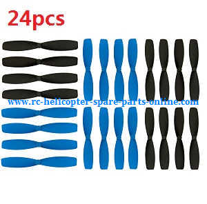 JJRC H21 quadcopter spare parts main blades 24pcs (Blue+Black)
