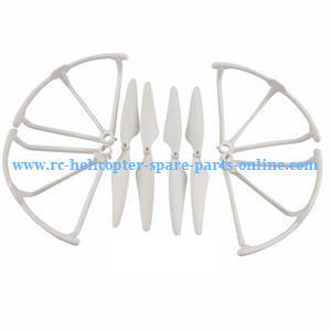 Hubsan H216A RC Quadcopter spare parts frame set + main blades (White)