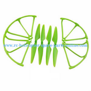 Hubsan H216A RC Quadcopter spare parts frame set + main blades (Green)