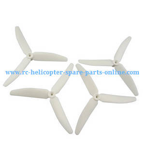 Hubsan H216A RC Quadcopter spare parts upgrade 3-leaf main blades (White)