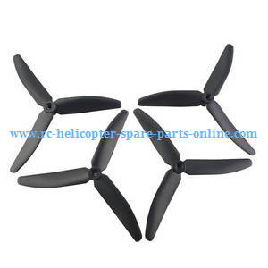 Hubsan H216A RC Quadcopter spare parts upgrade 3-leaf main blades (Black)