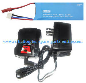 Hubsan H216A RC Quadcopter spare parts 7.6V 750mAh battery + charger + balance charger box