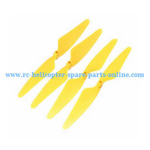 Hubsan H216A RC Quadcopter spare parts main blades (Yellow)