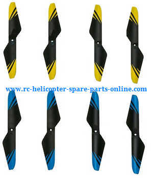 JJRC H23 RC quadcopter spare parts main blades (Yellow + Blue)