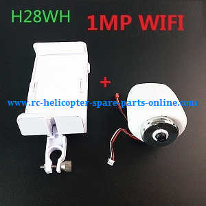 JJRC H28 H28C H28W H28WH quadcopter spare parts H28WH 1MP WIFI camera + Mobile phone holder (White)