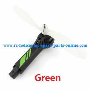 JJRC H28 H28C H28W H28WH quadcopter spare parts main motor + main blades + cap of blades + motor deck + side motor cover bar (Green-Black)