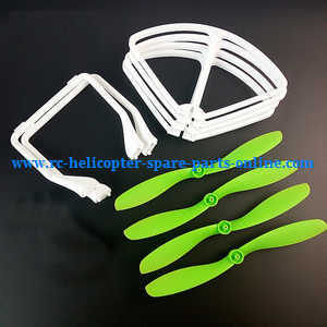 JJRC H28 H28C H28W H28WH quadcopter spare parts undercarriage + main blades + protection frame set