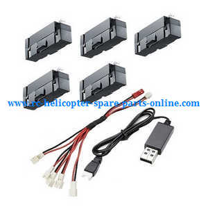 JJRC H37mini RC quadcopter spare parts 1 to 5 charger wire + USB charger cable + 5*batteries set.