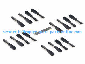JJRC H49WH H49 RC quadcopter spare parts main blades (4sets Black) + wrench