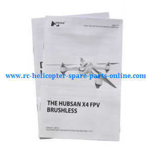 Hubsan H501 H501S H501S-S RC Quadcopter spare parts English manual book
