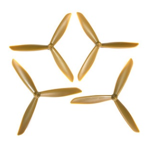 Hubsan H501 H501S H501S-S RC Quadcopter spare parts upgrade 3-leaf main blades (Gold)