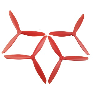 Hubsan H501 H501S H501S-S RC Quadcopter spare parts upgrade 3-leaf main blades (Red)