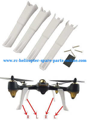 Hubsan H501 H501S H501S-S RC Quadcopter spare parts upgrade landing skids (White)