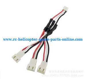 Hubsan H501 H501S H501S-S RC Quadcopter spare parts 7.4V 1 to 3 charger wire