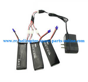 Hubsan H501 H501S H501S-S RC Quadcopter spare parts 1 to 3 charger set + 3*7.4V 2700mAh battery