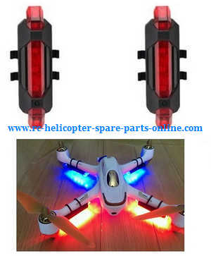 Hubsan H501A RC Quadcopter spare parts upgrade side LED light (2pcs Red)