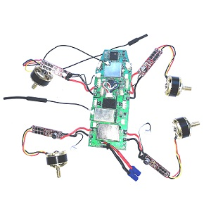 Hubsan H501A RC Quadcopter spare parts fly control PCB power board set with brushless motor and ESC board set