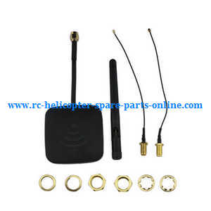 Hubsan H501 H501S H501S-S RC Quadcopter spare parts 5.8G 14dBi FPV Enhanced Range Modification Antenna Kit