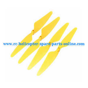 Hubsan H502T H502C RC Quadcopter spare parts main blades (Yellow)