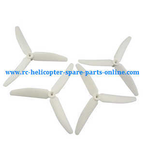 Hubsan H502T H502C RC Quadcopter spare parts upgrade 3-leaf main blades (White)