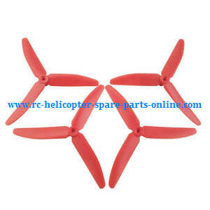 Hubsan H502T H502C RC Quadcopter spare parts upgrade 3-leaf main blades (Red)