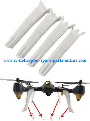 Hubsan H502T H502C RC Quadcopter spare parts upgrade landing skids (White)