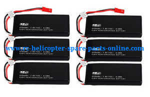 Hubsan H502S H502E RC Quadcopter spare parts 7.4V 610mAh battery (6pcs)