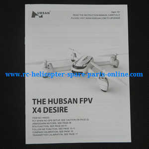 Hubsan H502S H502E RC Quadcopter spare parts English manual book (H502S)