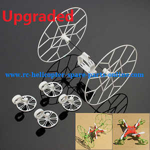 JJRC H7 quadcopter spare parts outer frame protection set (Upgraded White)