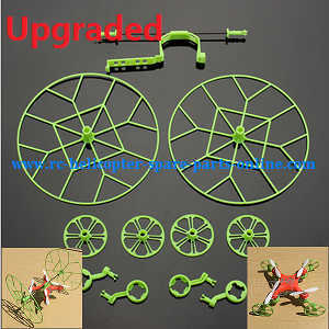 JJRC H7 quadcopter spare parts outer frame protection set (Upgraded Green)