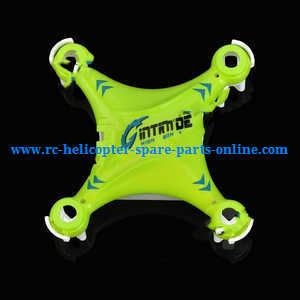 JJRC H7 quadcopter spare parts upper and lower cover (Green)