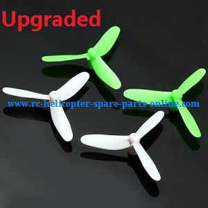 JJRC Eachine H8 Mini H8C Mini quadcopter spare parts 3-leaf main blades (Upgraded Green-White)