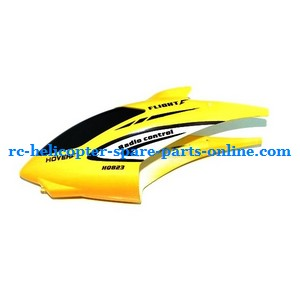 Huan Qi HQ823 helicopter spare parts head cover (Yellow)
