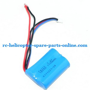 Huan Qi HQ823 helicopter spare parts battery 7.4v 1100MaH JST plug