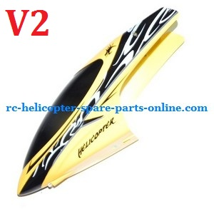 Huan Qi HQ 848 848B 848C RC helicopter spare parts head cover (Yellow V2)