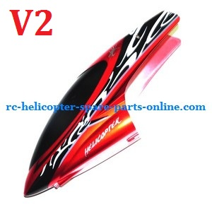 Huan Qi HQ 848 848B 848C RC helicopter spare parts head cover (Red V2)