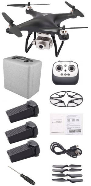 JJRC X13 RC drone with EPP case and 3 battery RTF