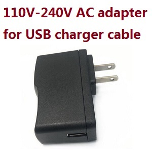 JJPRO JJRC X7 RC quadcopter drone spare parts 110V-240V AC Adapter for USB charging cable