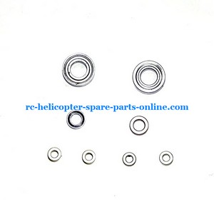 JTS 825 825A 825B RC helicopter spare parts 2x big bearing + 2x midum bearing + 4x small bearing (set)