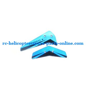 JXD 340 helicopter spare parts tail decorative set (Blue)