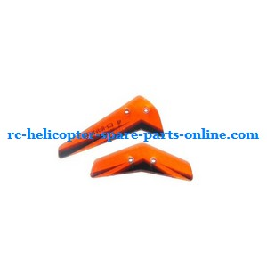 JXD 340 helicopter spare parts tail decorative set (Orange)
