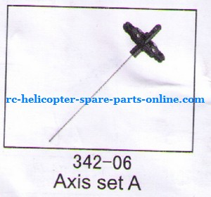 JXD 342 342A helicopter spare parts inner shaft + upper main blade grip set (set)