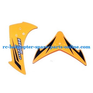 JXD 349 helicopter spare parts tail decorative set (Yellow)