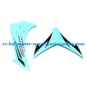 JXD 349 helicopter spare parts tail decorative set (Blue)