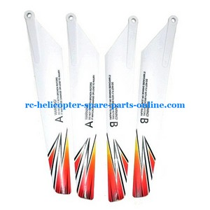 JXD 350 350V helicopter spare parts main blades (2x upper + 2x lower)