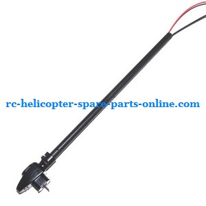 JXD 352 352W helicopter spare parts tail big pipe + tail motor + tail motor deck (Black)