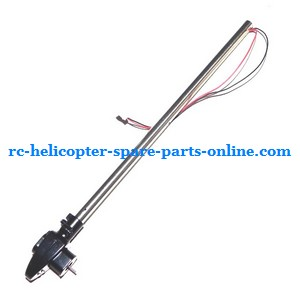JXD 352 352W helicopter spare parts tail big pipe + tail motor + tail motor deck (Silver)